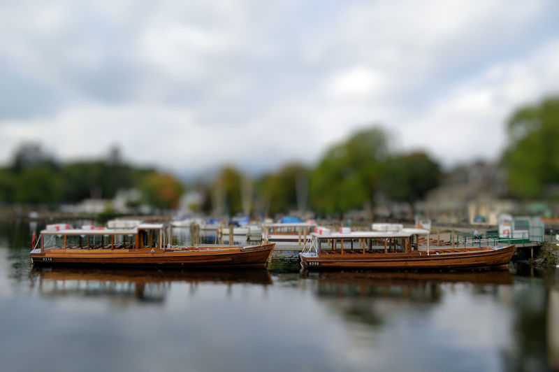 Ambleside Boats Boats And Moorings Boats And Water Lake Side Reflections Tiltshift Tourist Boat Trip Windermere Wooden Boats