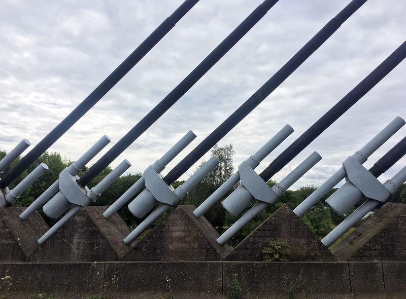 5-9-2017 Belgium. Belgique. Belgie. Belgien. Etc. Industrial Photography Visé Bridge - Man Made Structure Cloud - Sky Day No People Sky Water