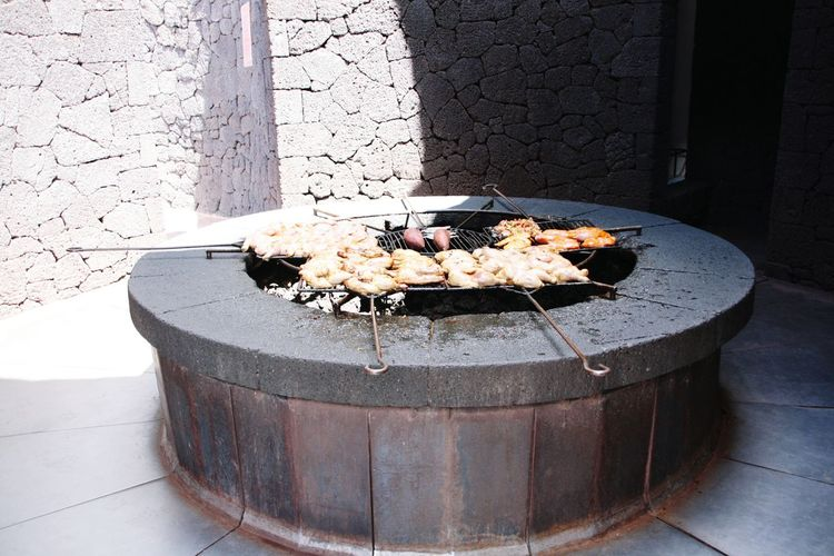 Food And Drink Food Restaurant Volcanic Restaurant Volcano Timanfaya El Diablo Restaurants Grill Volcano Cooking Heat Lava Cooking