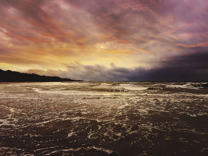 Sunset Sea Beach Landscape Cloud - Sky Seascape Dramatic Sky Water Low Tide Horizon Over Water Tranquility Outdoors Scenics Reflection Nature Sky Tide Tourism Sand Summer Germany🇩🇪 Samsung Galaxy S7 Ostsee, Deutschland, Meer, Rügen, Freiheit, Boot, Himmel, Sonne Galaxy Ahrenshoop