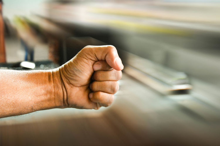 Fight Adult Blur Background Close-up Day Fighting Hand Figh Human Body Part Human Hand Indoors  One Person People