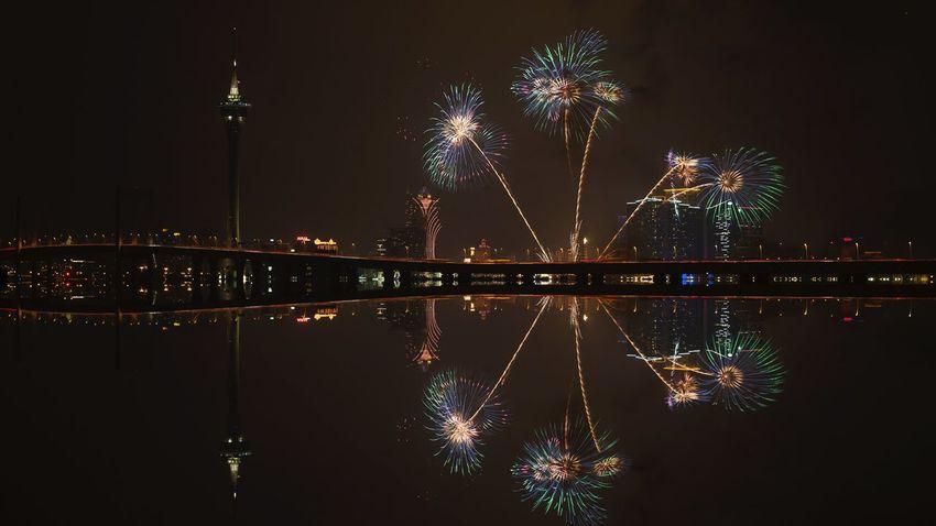 好心情(1) EyeEm Selects Night Illuminated Reflection Water Architecture Sky