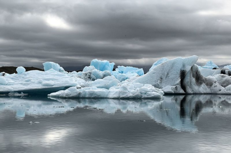 Jökulsarlon glacier lagoon, Iceland Water Cold Temperature Tranquil Scene Scenics Tranquility Beauty In Nature Winter Reflection Season  Sea Frozen Snow Waterfront Weather Iceberg - Ice Formation Glacier Ice Nature Sky iceland ísland