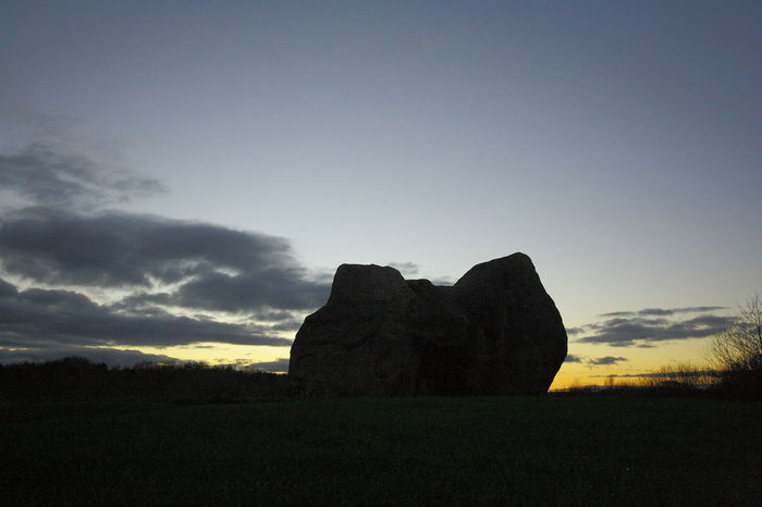 Monolith Stack Rock Outdoors Field Silhouette Copy Space Idyllic Non-urban Scene Solid Rock - Object Land Rock Sunset Scenics - Nature Environment Landscape Cloud - Sky Beauty In Nature Tranquility Tranquil Scene Sky Nature No People
