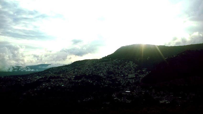 Blanco Taxco De Alarcón Mexico Landscape Sunset Mountains