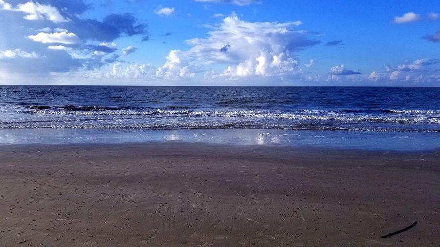 Hilton Head Ocean Morning Waves Reflection Clouds Beautiful Hilton Head Island, SC Water Wave Sea Beach Blue Sand