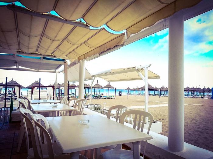 CostadelSol Beach Beachphotography Sky Springtime Spring Relax Relaxing Sol Shine Beach Umbrella
