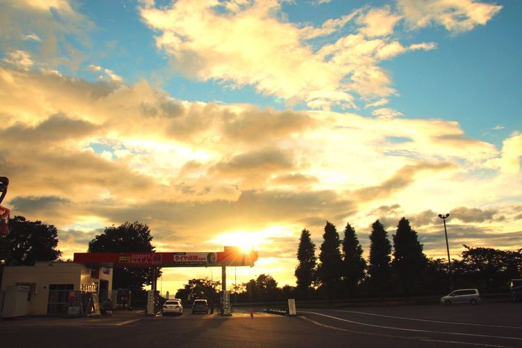 OpenEdit Service Area Taking Photos Summer Hello World Highway Nature Clouds Sunset Sun_collection