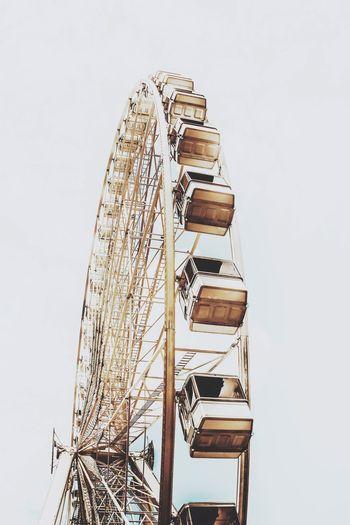 Ferris wheel against clear sky