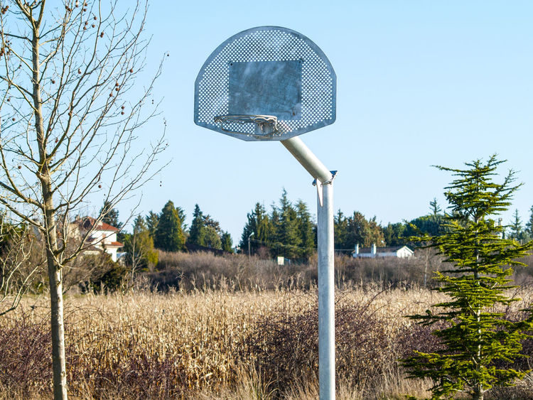 Basket Basketball Basketball Game Citscape Day Diversion Enjoy Equipment Funny Lanscape Metal Metallic Nature No People Object Outdoors Park Play Rural Life Silhouette Sky Sport Sports Team Team Sport