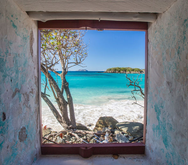 Architecture Beach Blue Cinnamon Bay Day Domestic Life Indoors  Luxury National Park Nature No People Scenics Sea Sky St. John, USVI Sunlight Tranquil Scene Tranquility Travel Travel Destinations Turquoise Turquoise Water Usvi Vacations Window
