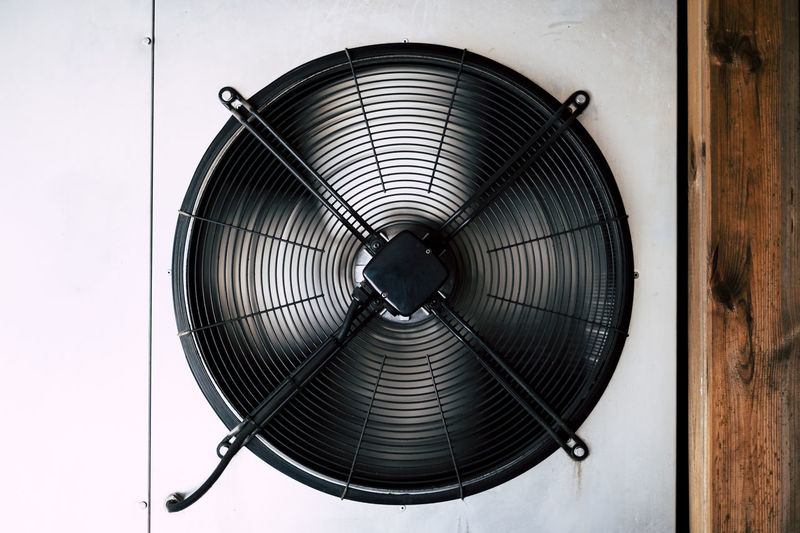 Fan (ON) Fan Electric Fan Indoors  Exhaust Fan Electricity  Air Duct Close-up No People Technology Metal Pattern Wall - Building Feature Circle Shape Geometric Shape Man Made Man Made Object Single Object Studio Shot Directly Above Ceiling Directly Below