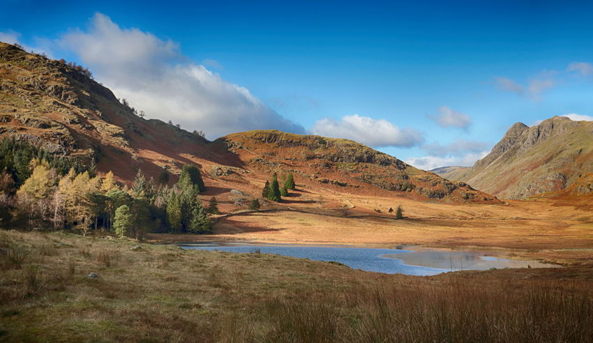 Blea Tarn in the English Lake District, Cumbria Autumn Beauty In Nature Blea Tarn Cloud - Sky Day District English Grass Lake Lake View Landscape Mountain Mountain Range Mountains Nature No People Outdoors Scenics Sky Tranquil Scene Tranquility Travel Destinations Water Wilderness