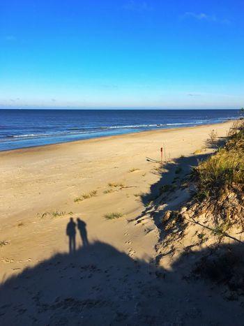 Baltics2k16 Beach Baltic Sea Shadow Blue Sky Couple