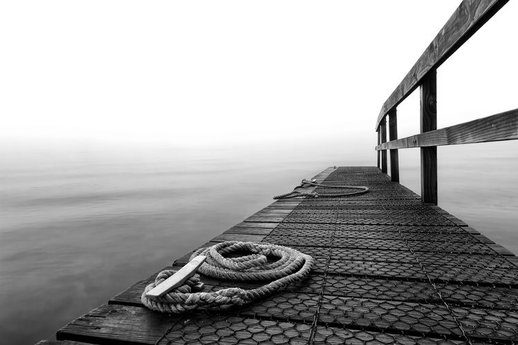 Rope On Pier Over Sea