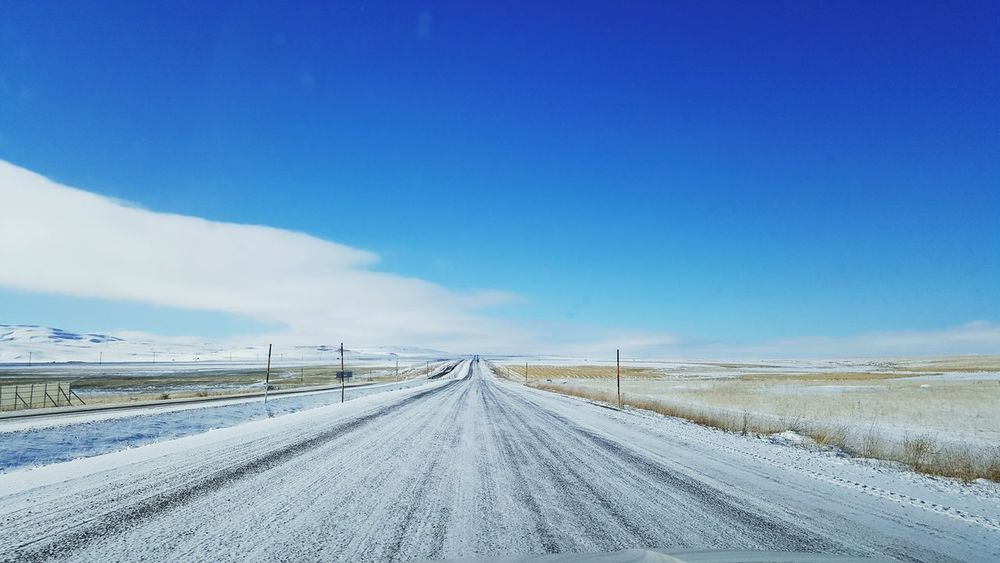 Hello World Taking Photos Enjoying Life Check This Out Roadscenes Road On The Road Winter Iced Snow ❄ Snow Snow On Road