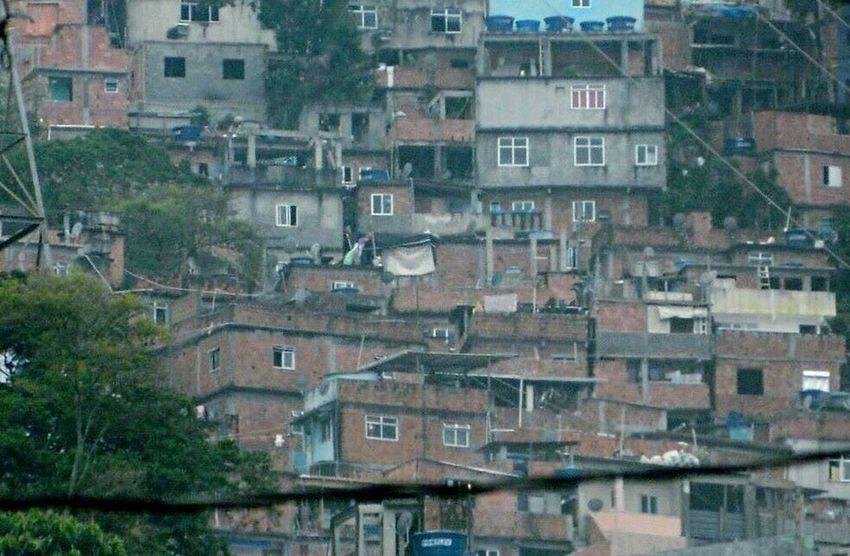 Riodejaneiro Taking Photos Turn Back Favela Houses View