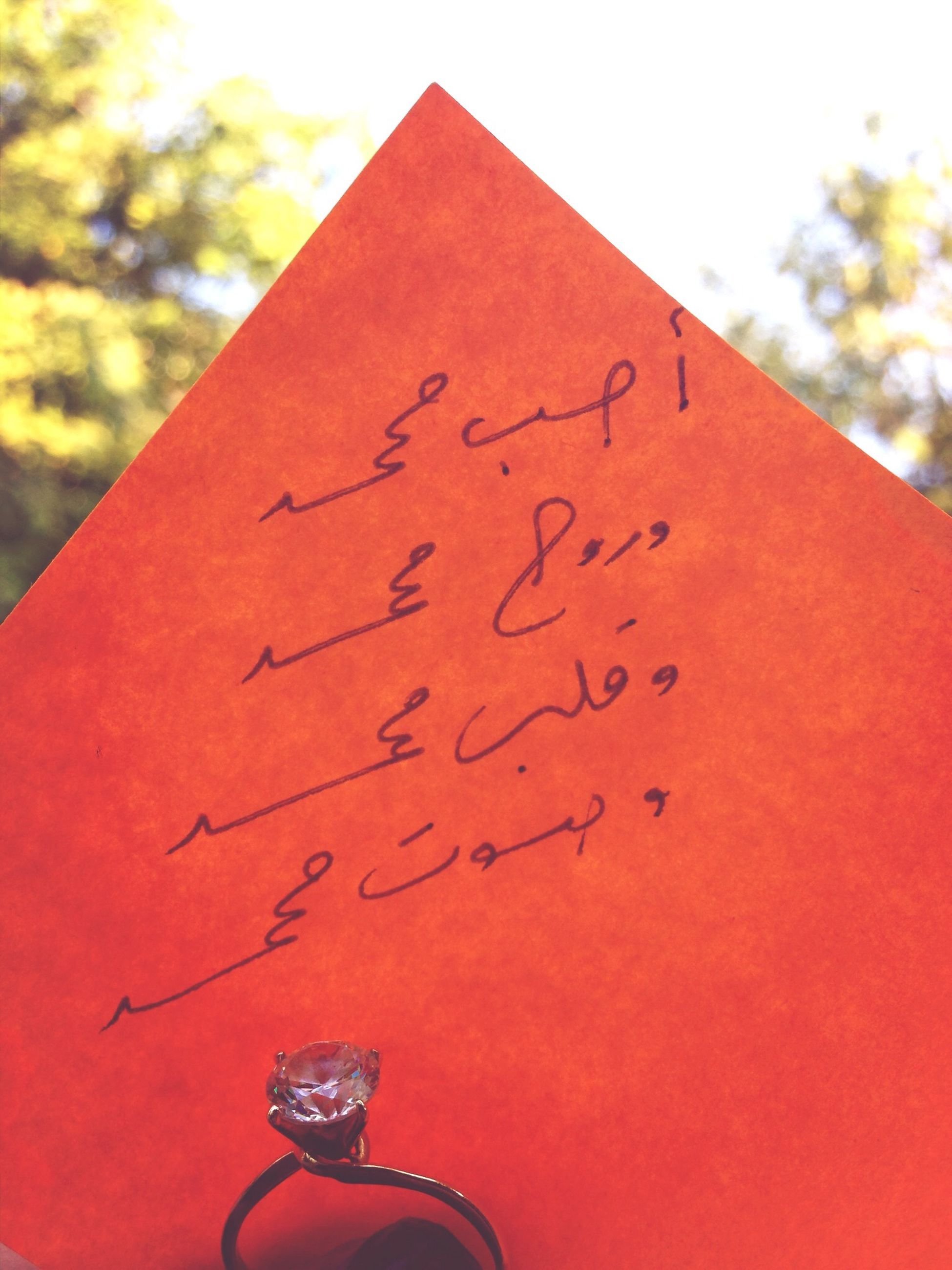 red, text, communication, western script, close-up, focus on foreground, non-western script, part of, metal, number, day, cropped, outdoors, capital letter, sign, no people, heart shape, selective focus, love
