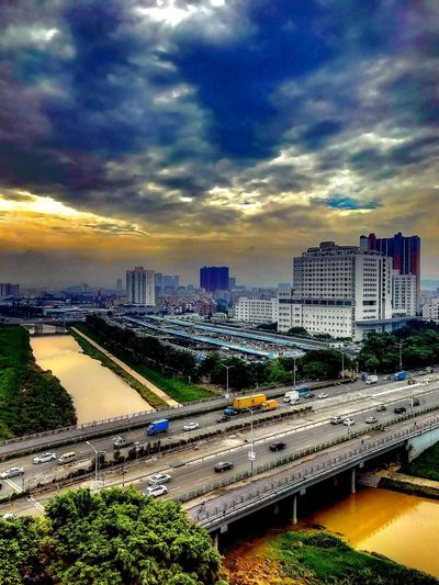 China Photos Shenzhen.China Sky And Clouds Violent Colors Landscape Yellow River In China 中国 深圳