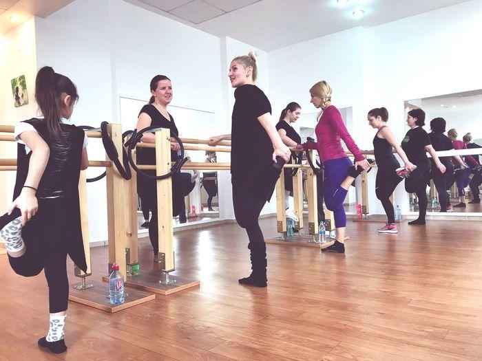 Barre Ballet Dancing Ballet Dancer Indoors  Teacher Teenage Girls Exercising Full Length Practicing Healthy Lifestyle Teenager Togetherness Lifestyles Classroom Studio Learning Balance Medium Group Of People