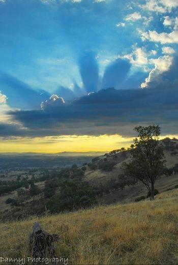 The sunrise from Klings Hill. Sunrise