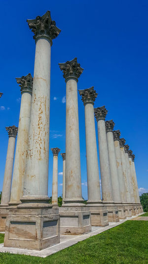Leading Lines Column Columns Columns And Pillars Leading Lines City Ancient Civilization King - Royal Person Architectural Column Blue Ancient History Sky Architecture Archaeology Civilization Tall - High Monument National Monument The Past Ancient History Old Ruin Roman