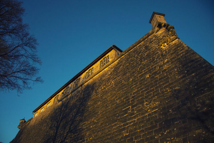 Festung Rosenberg Sky Architecture Low Angle View Building Exterior Built Structure Clear Sky Nature Building No People Blue Day Old Wall - Building Feature Outdoors Window Tree The Past History Plant Wall Stenorkunst Frankenwald  FrankenwaldBlogger Kronach Festung Rosenberg