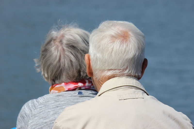 Adult Bonding Casual Clothing Close-up Gray Hair Headshot Leisure Activity Lifestyles Outdoors People And Places People Of EyeEm People Watching Retirement Sea Seaview Senior Couple Sitting Togetherness Water