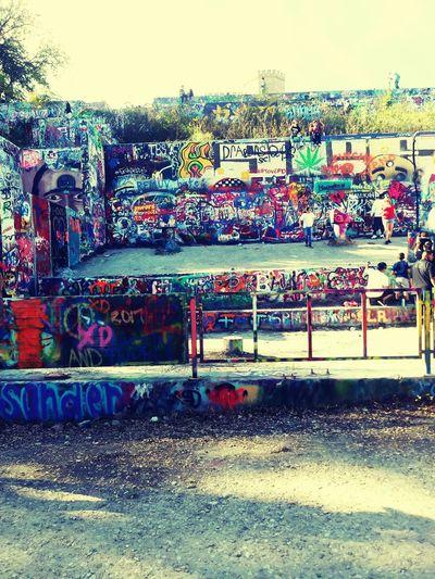 Multi Colored Text Graffiti Street Art Sky