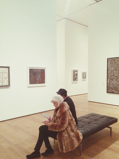 Moma Moma N.Y. Art Art Admirer Quiet Moment Peaceful Art Watchers Museum Museum People People Sitting People Resting