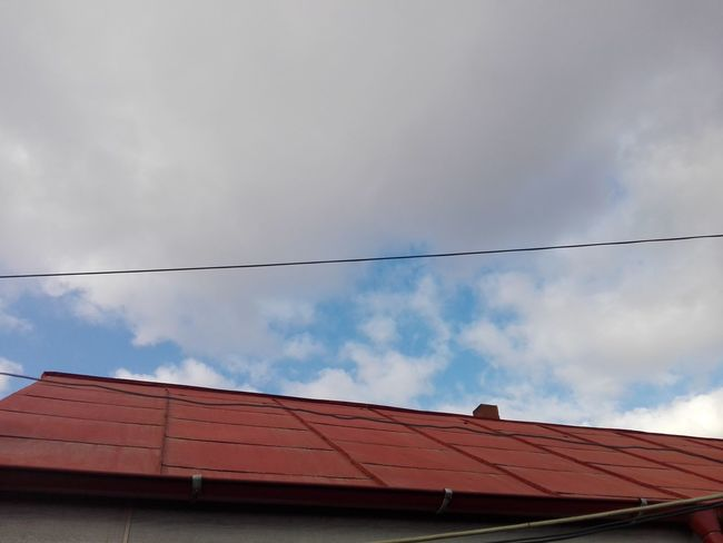 Red Roof Roof And Sky Blue Sky White Clouds White Cloud White Clouds And Blue Sky Blue Sky And White Clouds WOLFZUACHiV Photography Veronica IONITA Photography VERONiCA WOLFZUACHiV Photography Ionita Veronica Photography Eyeem Market On Market Red Day Roof Sky No People Architecture Outdoors
