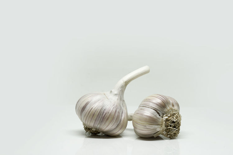 Spice Garlic Studio Shot Still Life Indoors  Ingredient Copy Space Food Food And Drink Garlic Bulb Vegetable White Background Freshness No People Wellbeing Close-up Healthy Eating Raw Food Table Group Of Objects Garlic Clove
