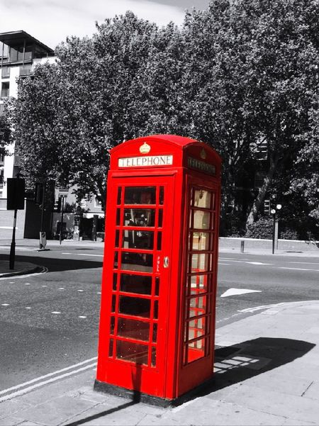 PhonePhotography Phonebooth Red Phone Boxes Red London Londonthroughmycam IPhoneography Black And White And Red Streetphotography Street Photography