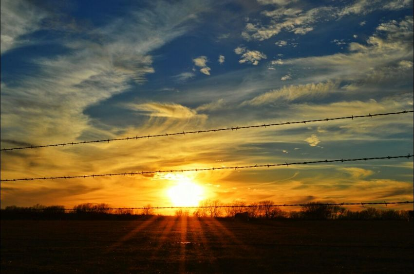 Sunset Sky Barbed Wire Texas Sunset Skyporn Sky_collection Eye4photography  Razorsharpsky