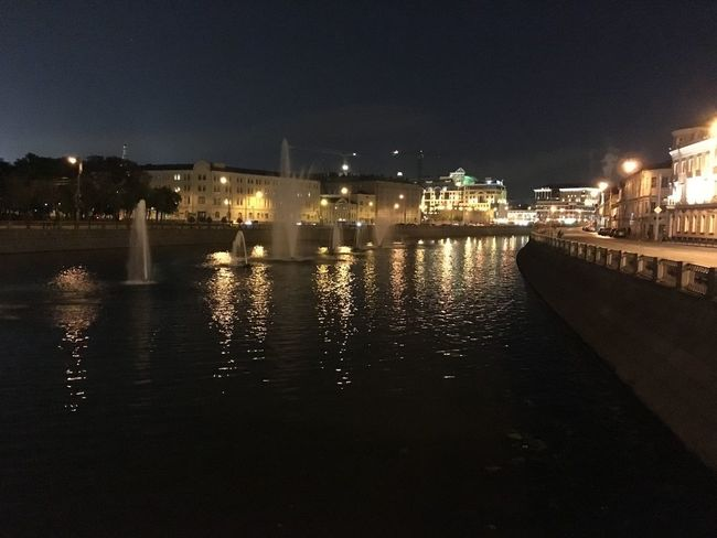Moscow City Moscow River Russia City Illuminated Night No People Reflection Water