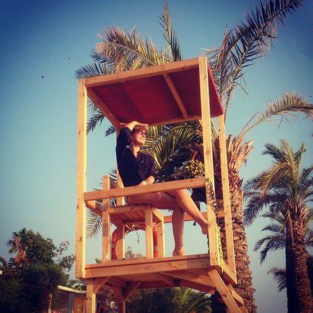 Lifeguard  Sea Aegean Palm SOS girl sun waves 🏊