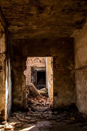 This used to be a house... Architecture Built Structure Old Abandoned History Building The Past Damaged No People Wall - Building Feature Run-down Decline Deterioration Day Entrance Outdoors