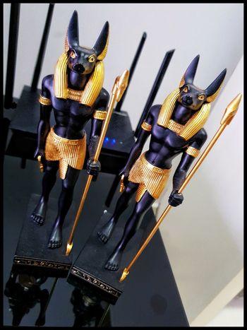 Anubis Egyptian Gods Anubis #Egyptian #figurines #guards #stilllifephotography Close-up
