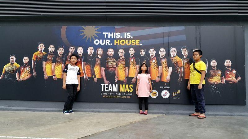 Stadium Nasional Bukit Jalil Togetherness Child People Teenage Girls Teenager Day Kualalumpur Malaysia