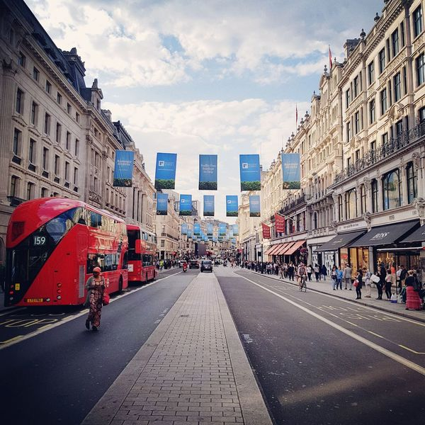City Red Cloud - Sky Outdoors Cityscape Day Sky Architecture London Oxford Street  London Bus