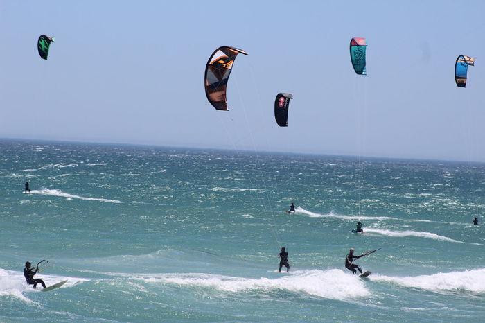 Bloubergbeach Cape Town Kiteboard Kiteboarder Kiteboarding Outdoors Sea And Sky Seascape South Africa