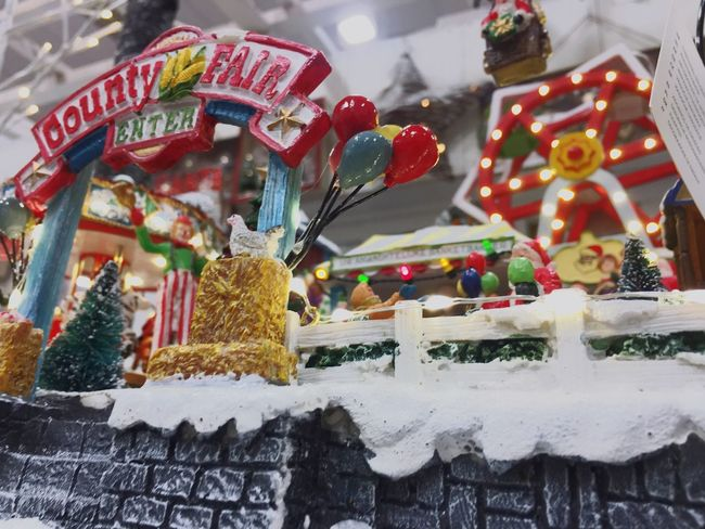 Plastic Carousel Ornaments Decoration Mood Park Fun Toys Snow Christmas Food And Drink Sweet Food Food No People Celebration Freshness Indoors  Sweet Indulgence Human Representation Unhealthy Eating Still Life Baked Holiday Cake Dessert Text Religion Decoration Representation