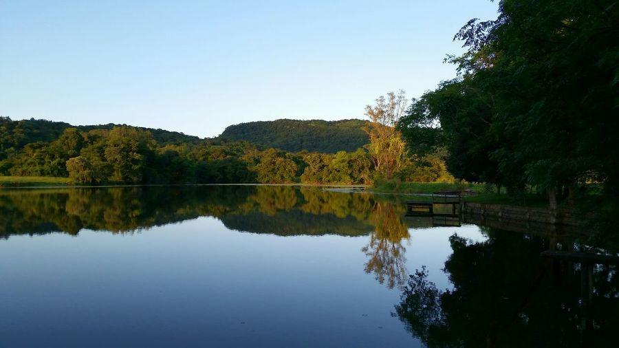 Açude Reflection Nature Scenics Outdoors
