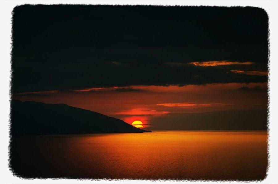 Sun Set Sea Sky Landscape