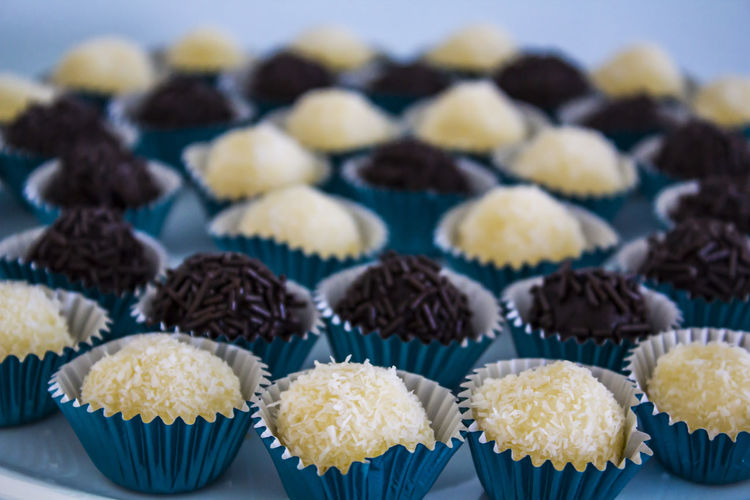Brazilian sweet chocolate truffle bonbon brigadeiro