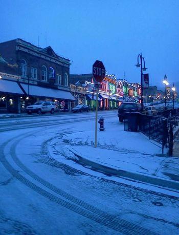 Colorado Cripple Creek Snow Street Photography Casino
