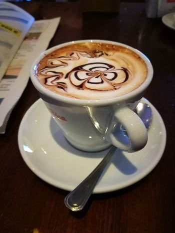 Froth Art Mocha Cappuccino Frothy Drink Drink Latte Cafe Saucer Coffee - Drink Coffee Cup Hot Drink Beverage