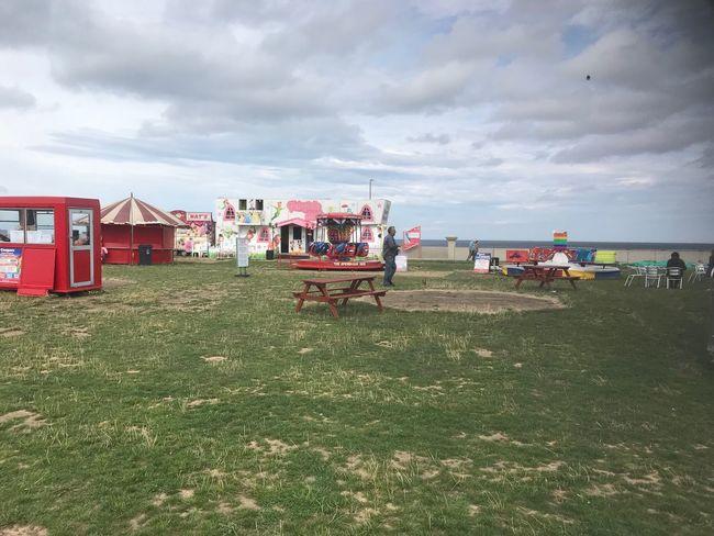 No fun at the fair 😩 Cloud - Sky Sky Grass Land Nature Built Structure Day