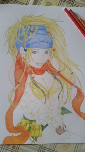 In Vendita Fan Art Manga~ Pastelli Fan Art Finalfantasy Finalfantasy 10 Rikku Matite