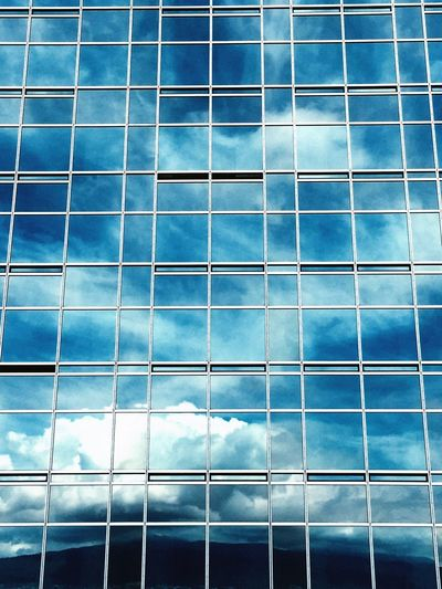 Full frame shot of blue sea against sky